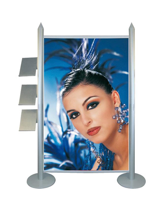 display con portadepliant