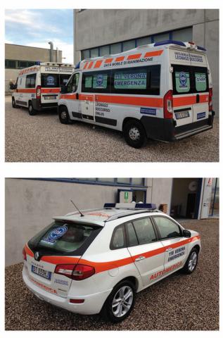 decorazione mezzi soccorso ambulanza