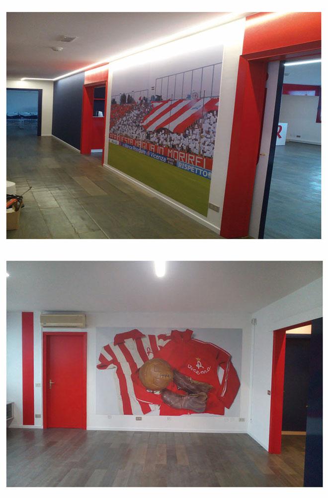 Pareti sede Vicenza Calcio